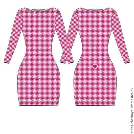 Платье мини с рукавами