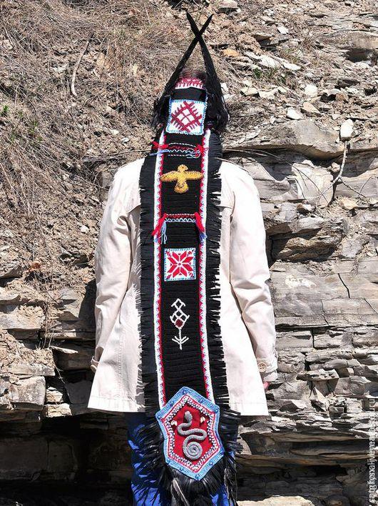 Шапки ручной работы. Ярмарка Мастеров - ручная работа. Купить Шаманская шапка. Handmade. Черный, шаманский, обрядовая одежда