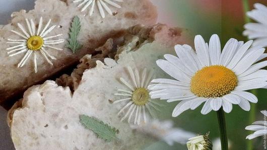 """Мыло ручной работы. Ярмарка Мастеров - ручная работа. Купить Натуральное банное мыло  """"Ромашковое поле"""". Handmade. Бежевый"""