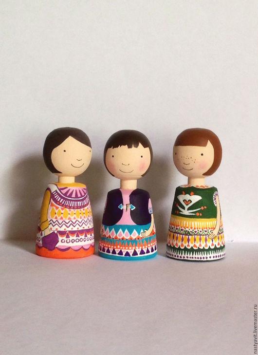 Человечки ручной работы. Ярмарка Мастеров - ручная работа. Купить три сестрицы. Handmade. Скандинавский стиль, кукла ручной работы