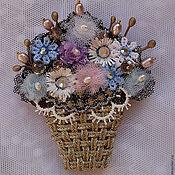 Украшения ручной работы. Ярмарка Мастеров - ручная работа Корзинка весенних цветов. Handmade.