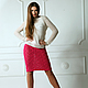 Юбки ручной работы. Ярмарка Мастеров - ручная работа. Купить Теплая розовая юбка. Handmade. Розовый, юбка до колена