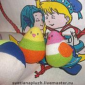 Куклы и игрушки ручной работы. Ярмарка Мастеров - ручная работа ПТИЧКА-ПОГРЕМУШКА. Handmade.