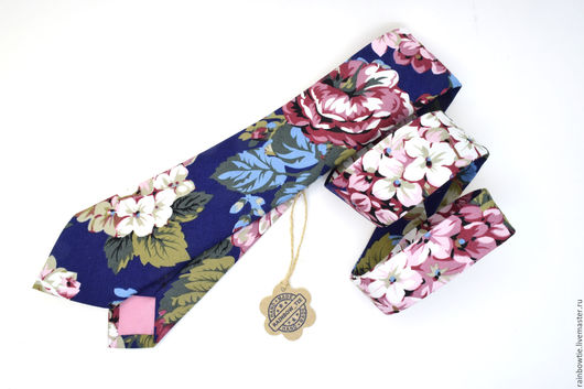 Галстуки, бабочки ручной работы. Ярмарка Мастеров - ручная работа. Купить Галстук BF. Handmade. Тёмно-синий, галстук на свадьбу