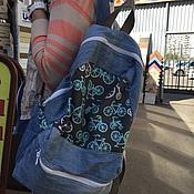 Сумки и аксессуары ручной работы. Ярмарка Мастеров - ручная работа Джинсовый рюкзак. Handmade.