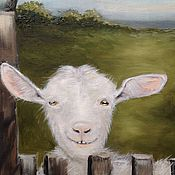 Картины и панно ручной работы. Ярмарка Мастеров - ручная работа Деревенская коза. Handmade.