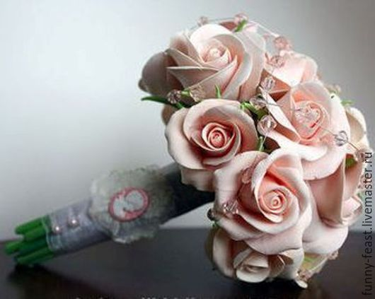 """Свадебные цветы ручной работы. Ярмарка Мастеров - ручная работа. Купить Букет невесты """"Винтаж"""". Handmade. Свадебные аксессуары"""