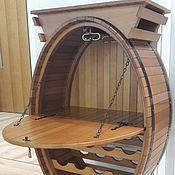 Для дома и интерьера ручной работы. Ярмарка Мастеров - ручная работа Бочка -Бар  с дверцей и столиком. Handmade.