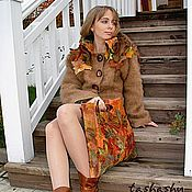 """Одежда ручной работы. Ярмарка Мастеров - ручная работа Авторские Жакет и сумка """"Осень"""". Handmade."""