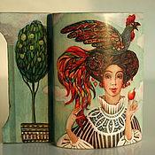 """Для дома и интерьера ручной работы. Ярмарка Мастеров - ручная работа шкатулка """" девушка с петухом. Handmade."""