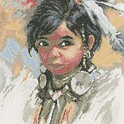 Картины и панно ручной работы. Ярмарка Мастеров - ручная работа Индейская девочка.. Handmade.