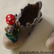 """Обувь ручной работы. Ярмарка Мастеров - ручная работа Домашние тапочки """"Лесовушки"""". Handmade."""