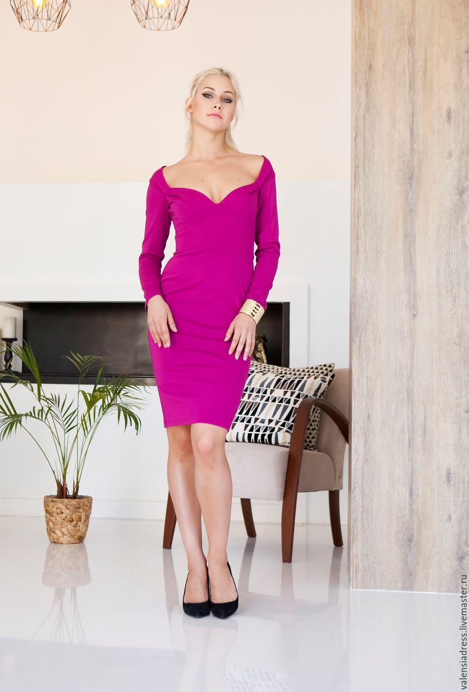 044475ad32b Платье футляр из джерси – купить в интернет-магазине на Ярмарке ...