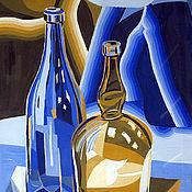 Картины и панно ручной работы. Ярмарка Мастеров - ручная работа Картина Натюрморт Бутылки. Handmade.