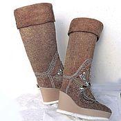 Обувь ручной работы handmade. Livemaster - original item Boots high boots with rhinestone