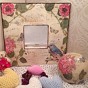 """Для дома и интерьера ручной работы. Ярмарка Мастеров - ручная работа Зеркало и шкатулка """"Птиченька"""". Handmade."""