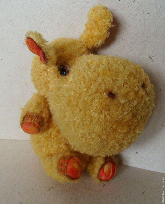 Мишки Тедди ручной работы. Ярмарка Мастеров - ручная работа. Купить Бегемотик Ляля. Handmade. Желтый, игрушка, бегемотик, вискоза