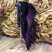 Одежда ручной работы. Ярмарка Мастеров - ручная работа Индейский головной убор - Чернильная Ночь III. Handmade.