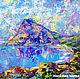 """Пейзаж ручной работы. Ярмарка Мастеров - ручная работа. Купить """"Новый Свет. Крым"""" - картина маслом (море). Handmade. Голубой"""