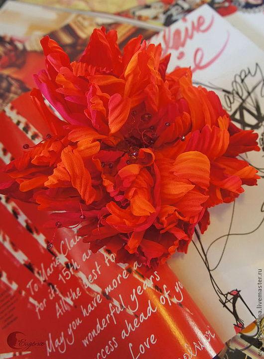 """Броши ручной работы. Ярмарка Мастеров - ручная работа. Купить Брошь """"Счастье цвета Карамели"""". Handmade. Рыжий, яркие цвета"""