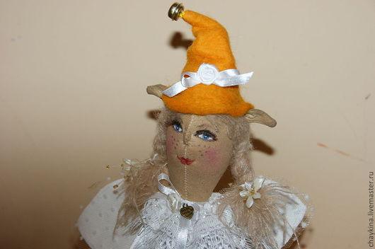 Коллекционные куклы ручной работы. Ярмарка Мастеров - ручная работа. Купить Эльф новогодний. Handmade. Белый, елочная игрушка, фетр