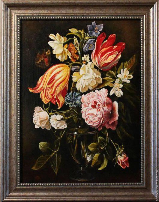 Картины цветов ручной работы. Ярмарка Мастеров - ручная работа. Купить Цветы в вазе. Handmade. Комбинированный, картина в гостиную