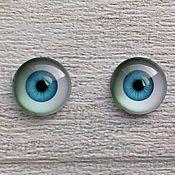 Глаза и ресницы ручной работы. Ярмарка Мастеров - ручная работа Глазки для кукол(пара). Handmade.