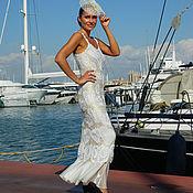 Одежда ручной работы. Ярмарка Мастеров - ручная работа Платье белые воланы это женственно. Handmade.