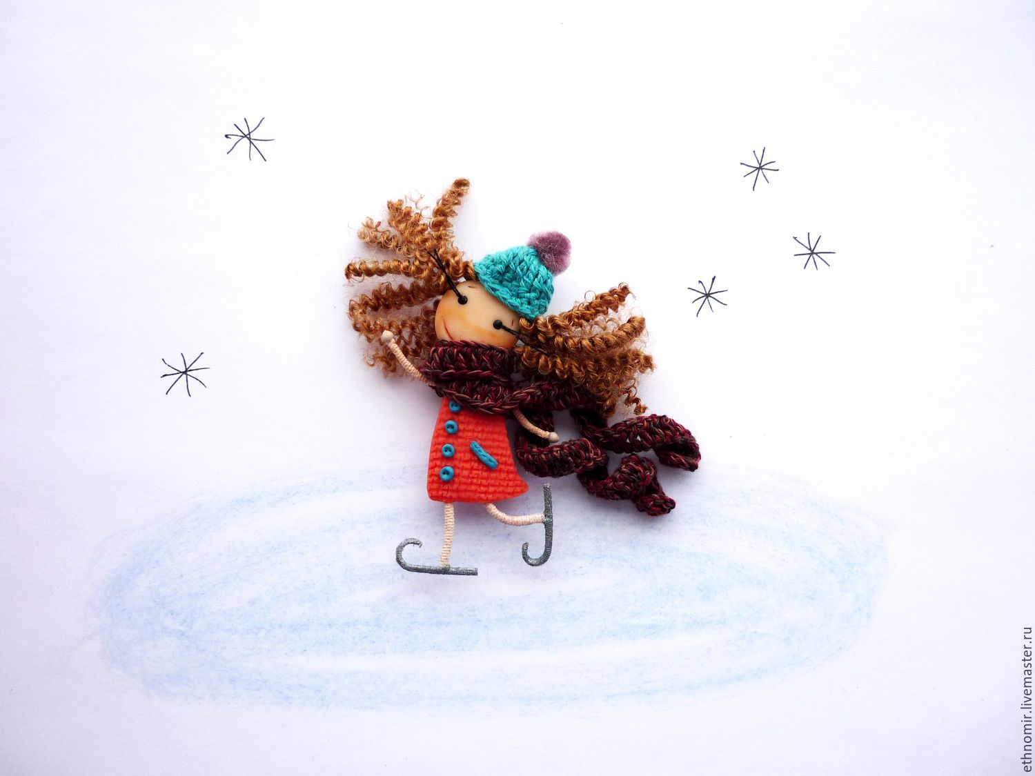 brooch girl `At the rink`