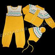 Работы для детей, ручной работы. Ярмарка Мастеров - ручная работа Комплект для новорожденных 1. Handmade.
