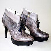 """Обувь ручной работы. Ярмарка Мастеров - ручная работа Ботильоны """"Отличница"""". Handmade."""