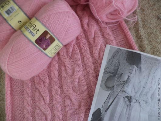 """Кофты и свитера ручной работы. Ярмарка Мастеров - ручная работа. Купить Джемпер """"Роза в пыли"""". Handmade. Розовый"""