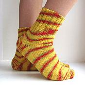Аксессуары ручной работы. Ярмарка Мастеров - ручная работа р. 31 Детские шерстяные носки разноцветные полоски в ассорименте. Handmade.