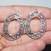 Материалы для творчества handmade. Livemaster - original item Pendants for earrings Kseniya - cupronickel with silver 925. Handmade.