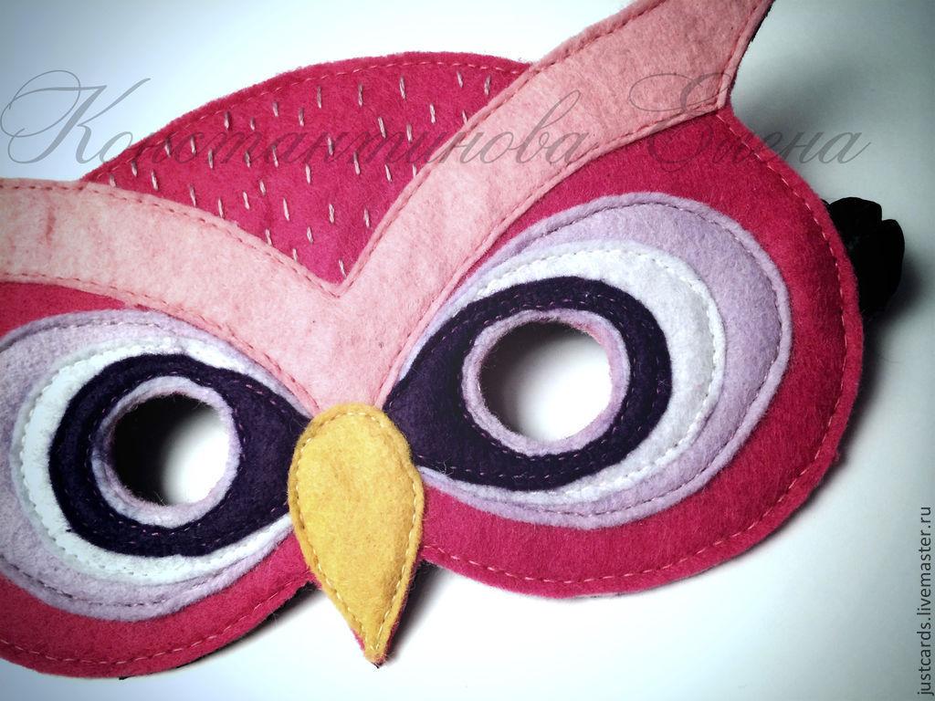 Детские карнавальные костюмы ручной работы. Ярмарка Мастеров - ручная работа. Купить Новогодняя маска из фетра. Handmade. Рисунок