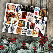 Материалы для творчества handmade. Livemaster - original item Stickers the maze Runner the Hunger Games Divergent the Hobbit. Handmade.