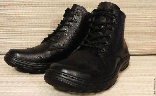 Обувь ручной работы. Ярмарка Мастеров - ручная работа. Купить ботинки мужские Classik. Handmade. Черный, демисезонная обувь, резина
