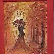 Картины и панно ручной работы. Ярмарка Мастеров - ручная работа Девушка-осень. Handmade.