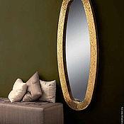 Для дома и интерьера handmade. Livemaster - original item Mirror in mosaic frame, gold oval. Handmade.