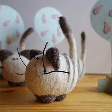 Куклы и игрушки ручной работы. Ярмарка Мастеров - ручная работа Кот в коробочке Roonya. Handmade.