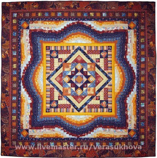Blanket bedspread patchwork TEREM-TEREMOK