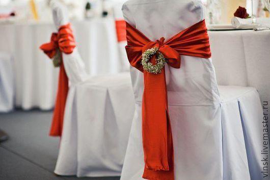Свадебные цветы ручной работы. Ярмарка Мастеров - ручная работа. Купить Оформление свадьбы цветами. Handmade. Ярко-красный, свадьба