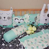 Для дома и интерьера ручной работы. Ярмарка Мастеров - ручная работа Комплект бортиков в детскую кровать. Handmade.