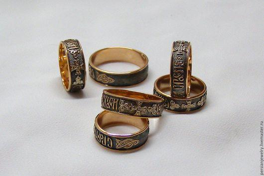 Кольца ручной работы. Ярмарка Мастеров - ручная работа. Купить Золотые православные кольца. Handmade. Золотой, золотое кольцо