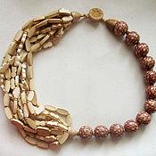 Украшения handmade. Livemaster - original item Wood and bamboo beads