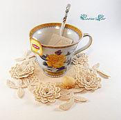 Для дома и интерьера ручной работы. Ярмарка Мастеров - ручная работа Набор подставок под чашки Цветы. Handmade.