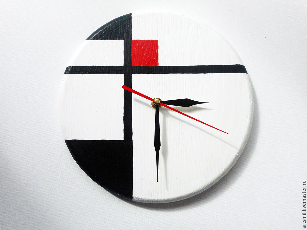 Watch avangard wall clock minimalist painting on wood shop online on livemaster with shipping - Insulating exterior paint minimalist ...