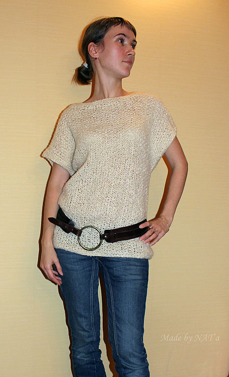 """Кофты и свитера ручной работы. Ярмарка Мастеров - ручная работа. Купить Пуловер """"Нежный"""". Handmade. Белый, верблюжья шерсть"""