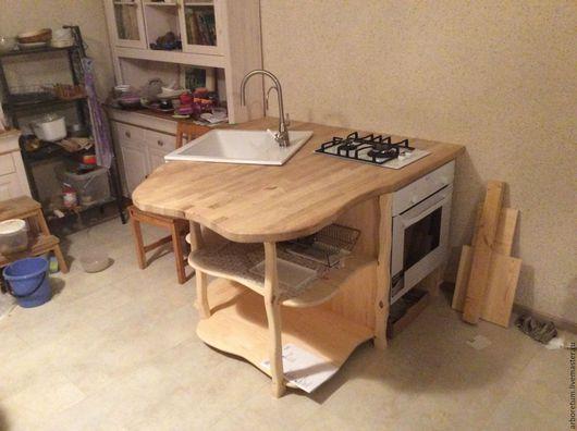 Мебель ручной работы. Ярмарка Мастеров - ручная работа. Купить Кухонный стол под мойку и варочную панелью. Handmade. Кухня