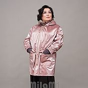 Одежда handmade. Livemaster - original item Parka of pink raincoat
